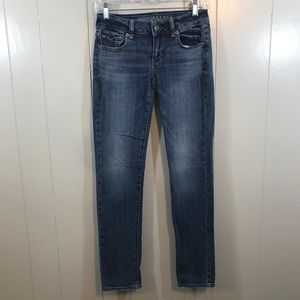 American Eagle Skinny Stretch Mid Rise Jeans 0